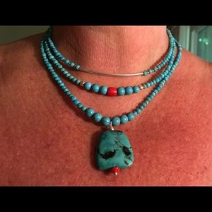 OOAK turquoise coral healing